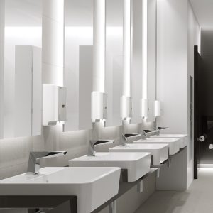 Urinal and Sink and Accessories