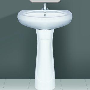 Plain Wash Basin Pedestal